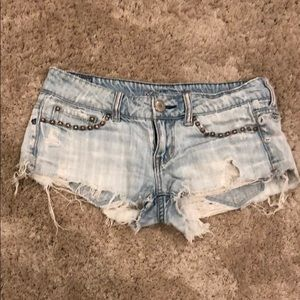 American Eagle Outfitters Studded Cut Off Shorts